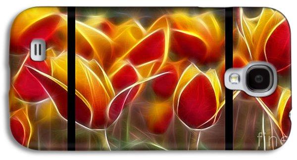 Cluisiana Tulips Triptych  Galaxy S4 Case by Peter Piatt