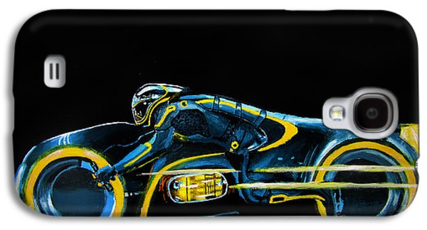 Tron Paintings Galaxy S4 Cases - CLUs Lightcycle Galaxy S4 Case by Kayleigh Semeniuk