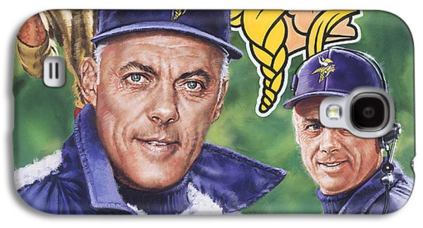 Pro Football Galaxy S4 Cases - Coach Bud Grant Galaxy S4 Case by Dick Bobnick