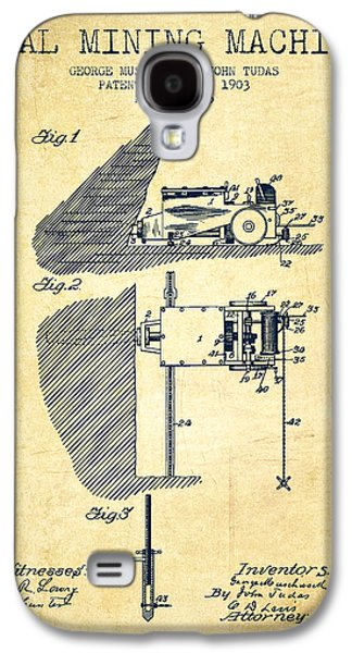 Machinery Galaxy S4 Cases - Coal Mining Machine Patent From 1903- Vintage Galaxy S4 Case by Aged Pixel
