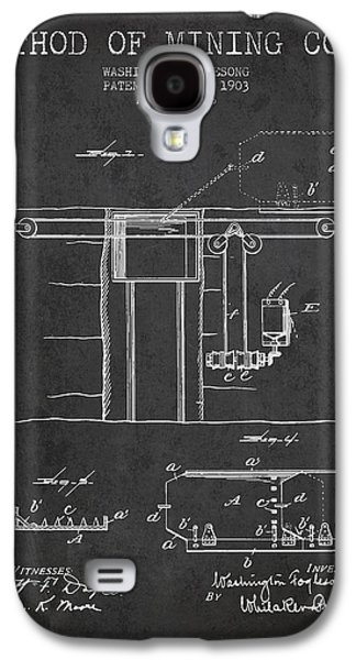 Machinery Galaxy S4 Cases - Coal Mining Patent From 1903- Charcoal Galaxy S4 Case by Aged Pixel