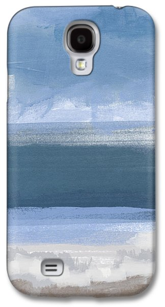 Abstract Landscape Galaxy S4 Cases - Coastal- abstract landscape painting Galaxy S4 Case by Linda Woods