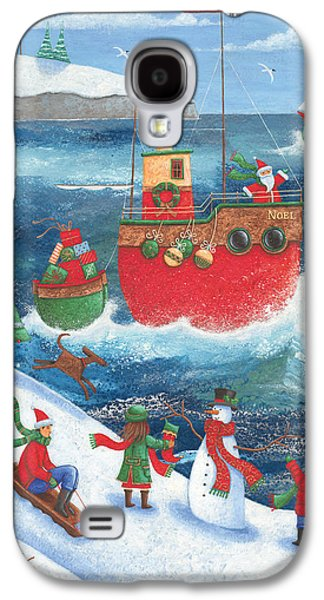 Sledge Galaxy S4 Cases - Coastal Christmas Galaxy S4 Case by Peter Adderley
