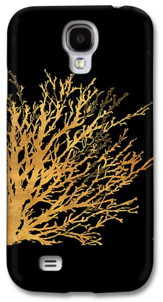 Coastal Coral On Black II Galaxy S4 Case by Lanie Loreth