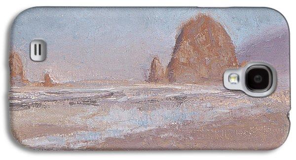 Coastal Escape  Cannon Beach Oregon And Haystack Rock  Galaxy S4 Case by Karen Whitworth