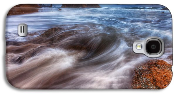 Landscape Acrylic Prints Galaxy S4 Cases - Coastal Flow Galaxy S4 Case by Darren  White