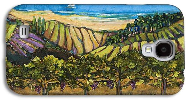 California Coastal Vineyards And Sail Boat Galaxy S4 Case by Jen Norton