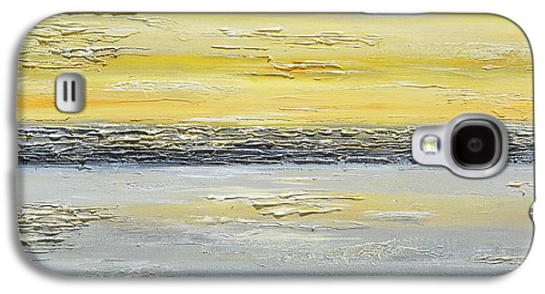 Recently Sold -  - Sunset Abstract Galaxy S4 Cases - Coastal Reflections Galaxy S4 Case by Christine Krainock