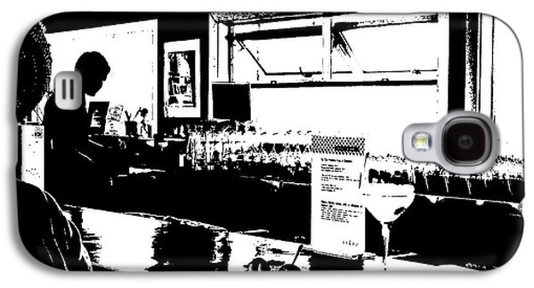 Women Tasting Wine Galaxy S4 Cases - Coastal Wine Bar Galaxy S4 Case by Connie Fox
