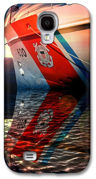 Boats On Water Galaxy S4 Cases - Coast Guard Cutter  Galaxy S4 Case by Aaron Berg