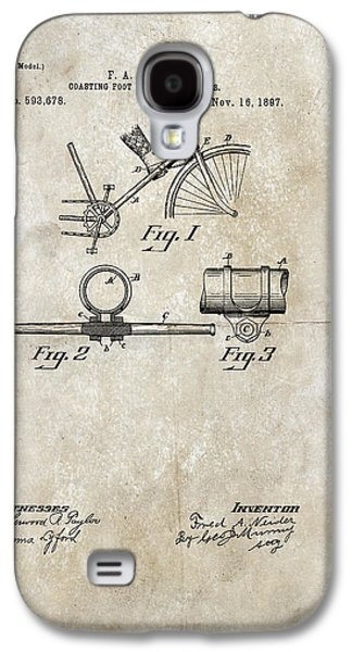 Coasting Foot Rest For Bicycles Patent 1897 Galaxy S4 Case by Paulette B Wright