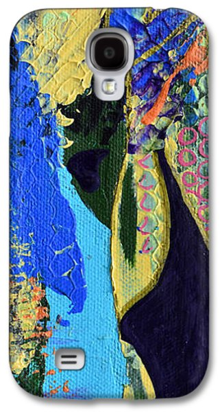 Modern Abstract Galaxy S4 Cases - Coat Of Many Colors Galaxy S4 Case by Donna Blackhall
