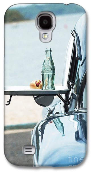 Waterscape Mixed Media Galaxy S4 Cases - Coca Cola and  American Car at Beach  Galaxy S4 Case by Anahi DeCanio - ArtyZen Studios