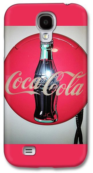 Etc. Paintings Galaxy S4 Cases - Coca Cola Wall Phone Galaxy S4 Case by Earnestine Clay