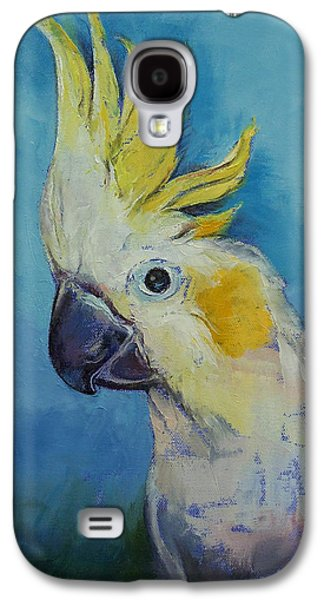 Cockatoo Galaxy S4 Case by Michael Creese
