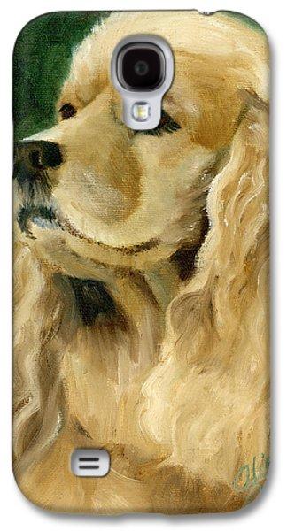 Spaniels Galaxy S4 Cases - Cocker Spaniel Dog Galaxy S4 Case by Alice Leggett