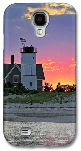 4th July Galaxy S4 Cases - Cocktail Hour at Sandy Neck Lighthouse Galaxy S4 Case by Charles Harden