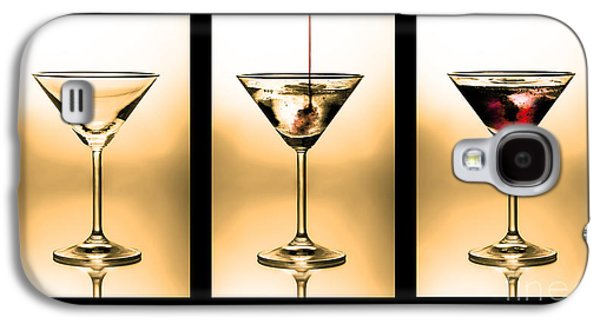 Pour Photographs Galaxy S4 Cases - Cocktail triptych in gold Galaxy S4 Case by Jane Rix