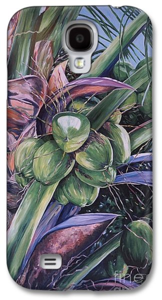 Close Up Paintings Galaxy S4 Cases - Coconuts   14x26 Galaxy S4 Case by John Clark