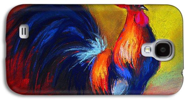 Light Pastels Galaxy S4 Cases - Cocorico Coq Gaulois Galaxy S4 Case by Mona Edulesco