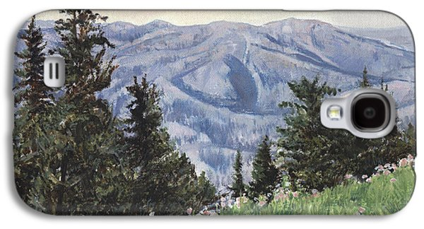 Wyoming Paintings Galaxy S4 Cases - Cody Mountain Galaxy S4 Case by Don  Langeneckert