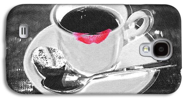 Interior Still Life Mixed Media Galaxy S4 Cases - Coffee and Lipstick Galaxy S4 Case by Tony Rubino