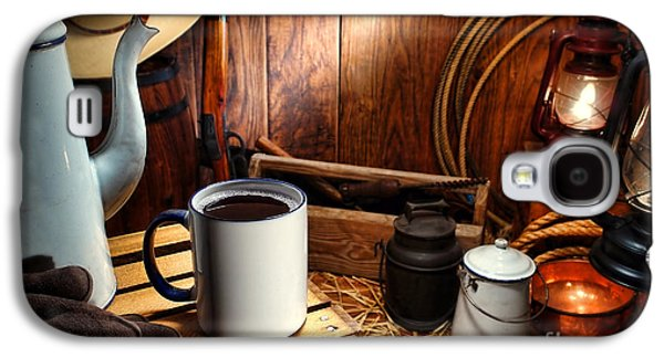 Folklore Galaxy S4 Cases - Coffee Break at the Chuck Wagon Galaxy S4 Case by Olivier Le Queinec