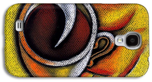 Coffee Drinking Galaxy S4 Cases - Coffee Cup  Galaxy S4 Case by Leon Zernitsky