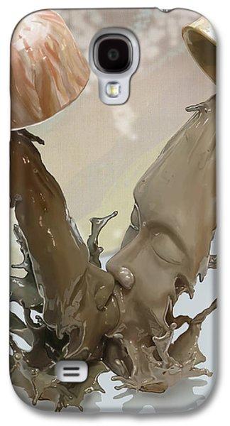 Splashy Digital Art Galaxy S4 Cases - Coffee Kiss Galaxy S4 Case by Ransy Doh