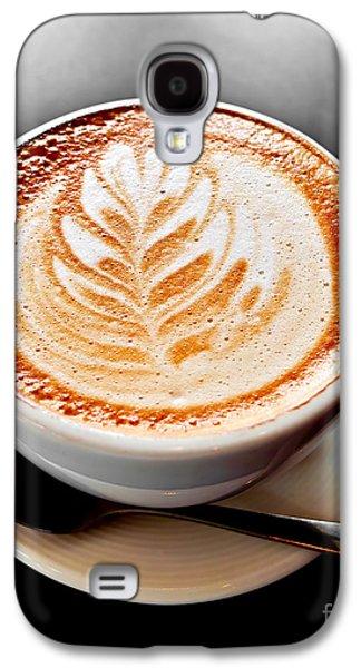 Coffee Latte With Foam Art Galaxy S4 Case by Elena Elisseeva