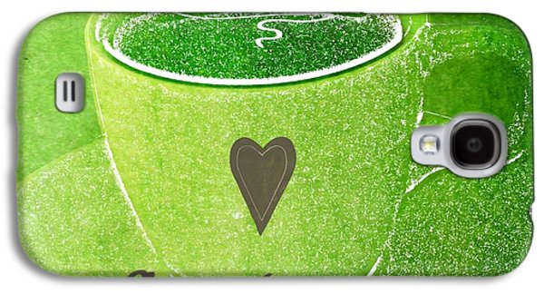 Lounge Galaxy S4 Cases - Coffee Galaxy S4 Case by Linda Woods