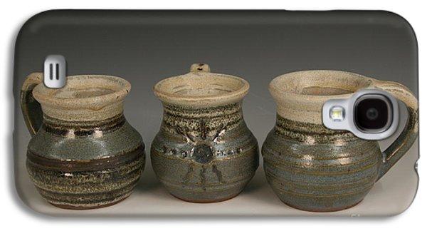 Mug Ceramics Galaxy S4 Cases - Coffee mugs Galaxy S4 Case by Haley Stebbins