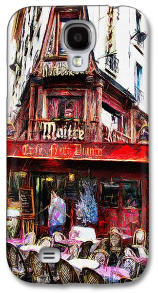 Chair Pastels Galaxy S4 Cases - Coffee Shop in Paris - Pastel Galaxy S4 Case by Daliana Pacuraru