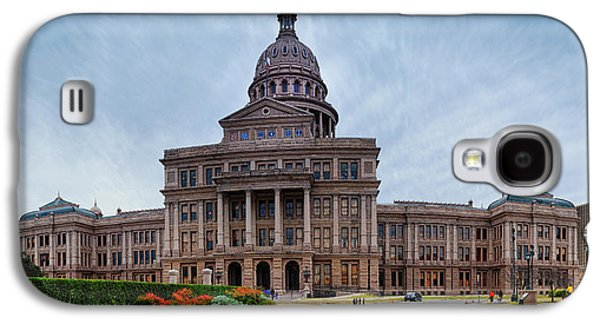 Cold And Blustery Day At The Texas State Capitol Austin Ektachrome 64 Asymmetrical View  Galaxy S4 Case by Silvio Ligutti