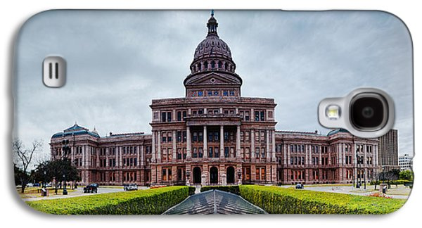 Cold And Blustery Day At The Texas State Capitol Austin Ektachrome Galaxy S4 Case by Silvio Ligutti