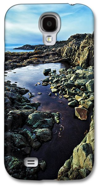 Coastal Maine Galaxy S4 Cases - Cold Morning at Cutler Coast Galaxy S4 Case by Bill Caldwell -        ABeautifulSky Photography