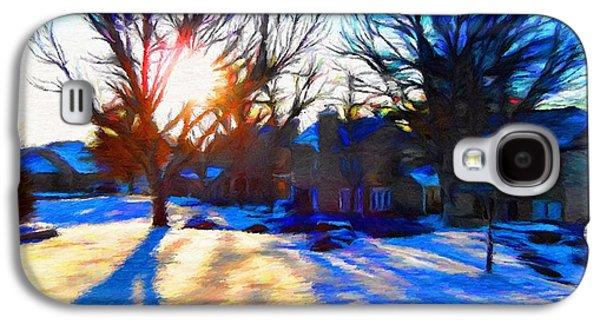 Suburban Digital Art Galaxy S4 Cases - Cold Morning Sun Galaxy S4 Case by Jeff Kolker