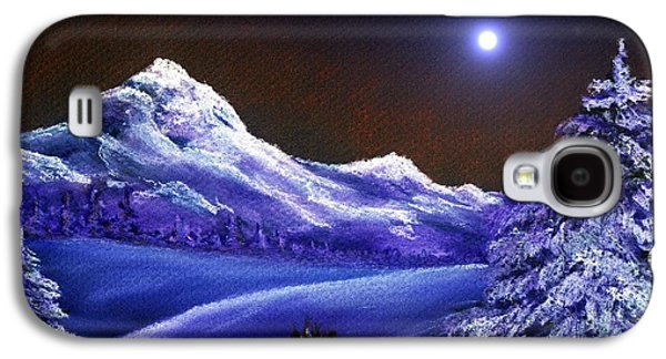 Winter Digital Art Galaxy S4 Cases - Cold Night Galaxy S4 Case by Anastasiya Malakhova