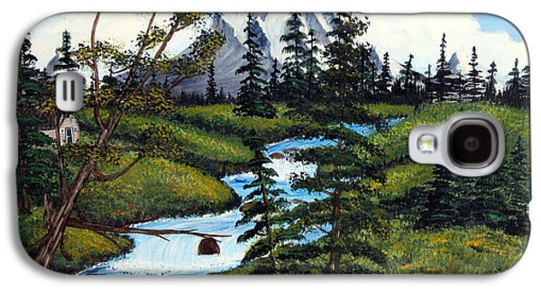 Bob Ross Paintings Galaxy S4 Cases - Cold Rattling Brook  Galaxy S4 Case by Barbara Griffin