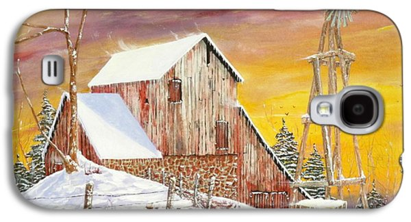 Barns In Snow Galaxy S4 Cases - Texas Coldfront Galaxy S4 Case by Michael Dillon
