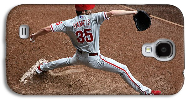 Hamels Galaxy S4 Cases - Cole Hamels - Pregame Warmup Galaxy S4 Case by Stephen Stookey