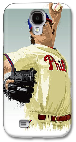 Cole Hamels Galaxy S4 Case by Scott Weigner