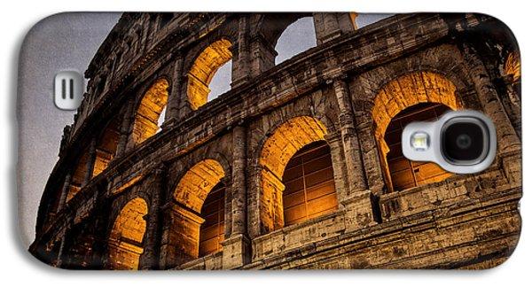 Landmarks Photographs Galaxy S4 Cases - Colosseum Dawn Galaxy S4 Case by Joan Carroll