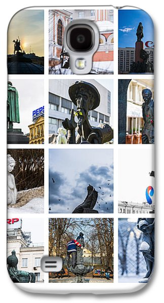 Painter Photo Galaxy S4 Cases - Collage - Moscow Monuments - Featured 3 Galaxy S4 Case by Alexander Senin