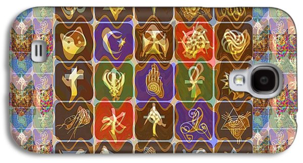 Business Galaxy S4 Cases - Collage Religious Symbols Galaxy S4 Case by Navin Joshi