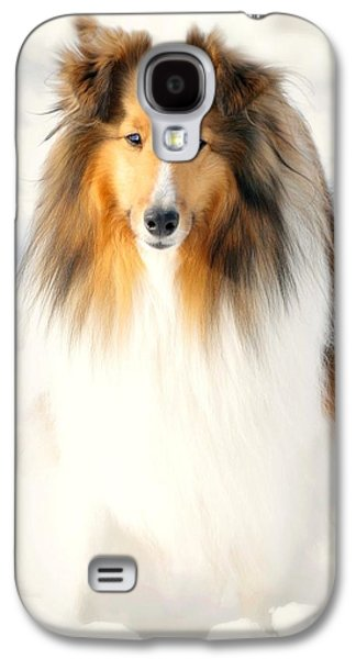 Dogs In Snow. Galaxy S4 Cases - Collie  Galaxy S4 Case by Diana Angstadt