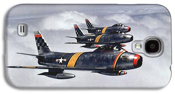 Colonel Ben O. Davis Leads F 86 Sabres Over Korea Upsized Galaxy S4 Case by L Brown