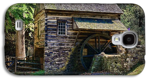 Log Cabin Interiors Galaxy S4 Cases - Colonial Grist Mill Galaxy S4 Case by Paul Ward