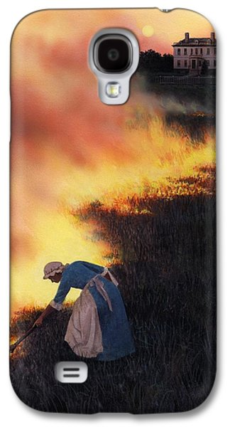 Catherine Galaxy S4 Cases - Colonial Woman Burning Fields Galaxy S4 Case by Rob Wood