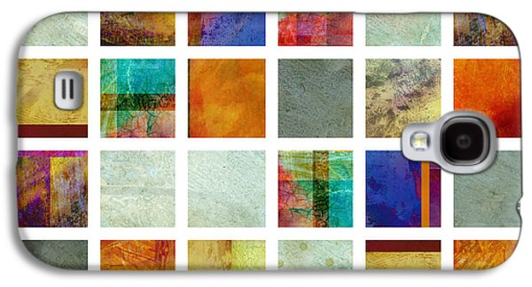 Color Block Galaxy S4 Cases - Color Block collage abstract art Galaxy S4 Case by Ann Powell
